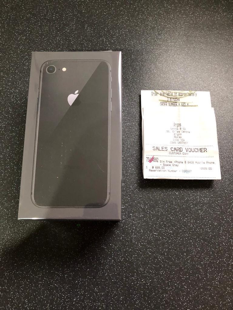 NEW IPHONE 8 GREY 64g FACTORY UNLOCKED