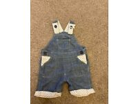 0-3 months baby boy summer dungarees