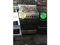 NEWWORLD 50CM SOLID TOP ELECTRIC COOKER IN SILIVER