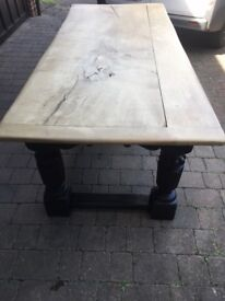 Large rustic solid oak 19th Century table