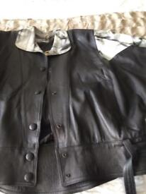 Ladies black leather jacket in size 10