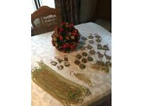 Box Of Christmas Decorations - (43 Items) - See Listing & All Photos