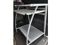 Metal small computer desk