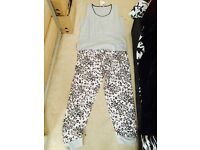 NEW PAIR OF ANIMAL PRINT PYJAMAS SIZE 16/18 STILL IN PACKET