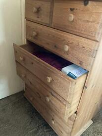 Solid Pine Chest of Draws Dovetail Features