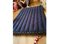 Double airbed with pump