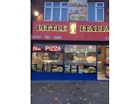 fish and chips/pizza shop/takeaway restaurant