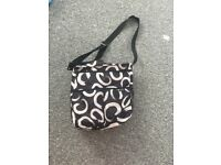 Black and white baby changing bag