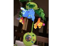 Fisher price rainforest mobile musical baby Cot attachment