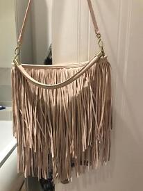 H&M Tassel light pink handbag