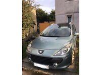 Peugeot 307 SW 2006 06 5seats 1.6 hdi 110 bhp estate ***spares or repairs ****turbo failure*********