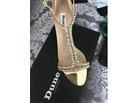 Dune nude diamanté sandal