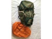 Nothface Base camp XL Duffel Teal Blue/Lowe Alpine TFX Appalachian 65:85 Clover Green