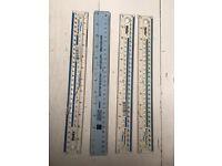 4 x 30cm plastic rulers