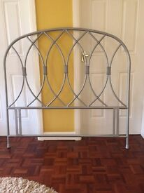 Silver Headboard for Standard Sized Double Bed in Excellent Condition