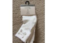 Baby ivory socks x 3