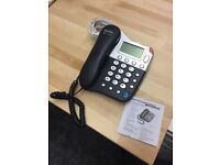 Corded Telephone ( black ) for sale
