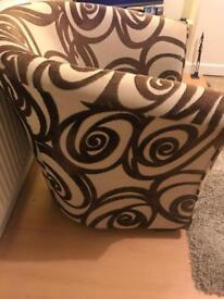 Chair brown and cream