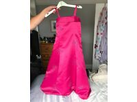 Children's pink bridesmaid dress