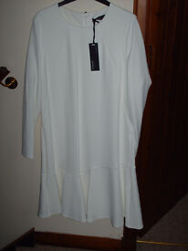 M and S White Autograph Dress---new -never worn