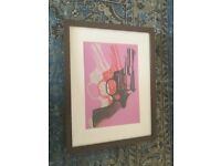 Andy Warhol Guns print in frame