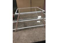 Stylish Shop display unit glass. 2 meters x 900 wide x 800 high