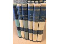 Old books set of 6