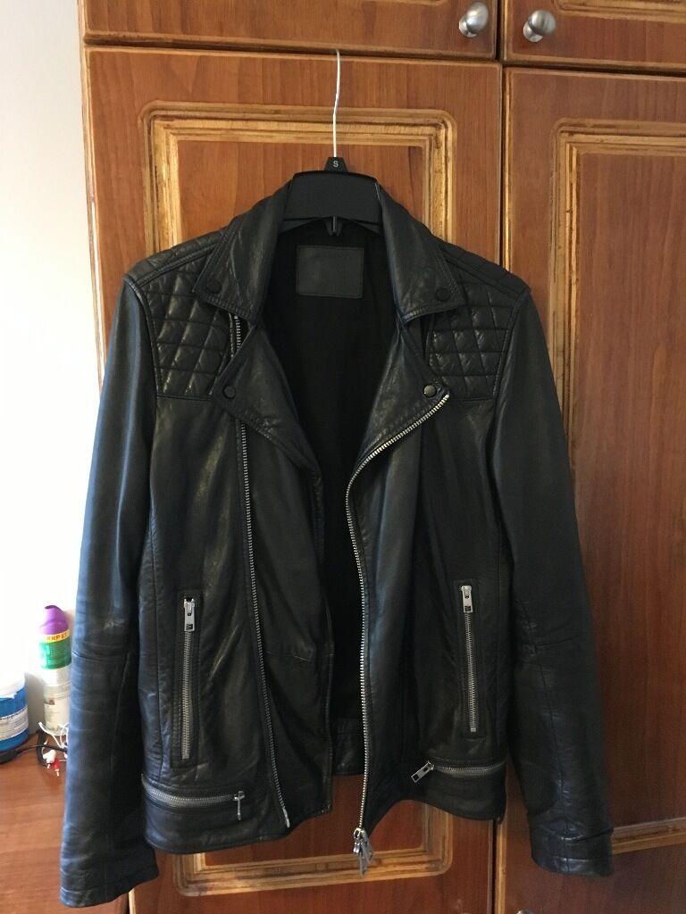 All Saints Conroy Leather Biker Men S Jacket In