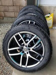 LIKE BRAND NEW   MERCEDES GL550  HIGH PERFORMANCE ARCTIC CLAW WINTER TIRES 265 / 50 / 20 ON AFTERMARKET ALLOY WHEELS