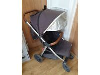 Oyster Zero Pushchair, Grey with accessories