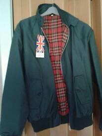 Mens Racing Green Bomber Jacket