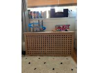 Ikea HOL storage box, solid acacia wood, used but good condition with some wear