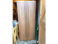Stylish Wooden Wardrobe With Top Shelf & Hanging Rail Good Condition