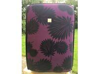 Berry and Black Medium Tripp Suitcase