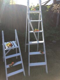 Lovely Matching White Ladders