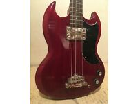 Epiphone EB-0 SG Bass Guitar in cherry red