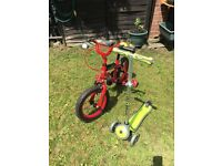 Child Bike and Globber scooter