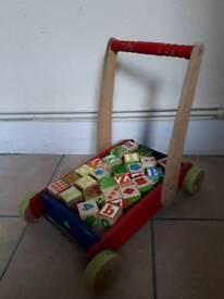 SALE! Wooden first step walker nr4