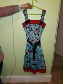 HELL BUNNY VIXEN DRESS - SIZE S