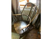 Ercol Vintage Retro Rocking Chair