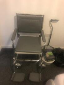 Over toilet wheelchair
