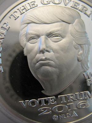 1-OZ.999 SILVER COIN  MIRROR FINISH TRUMP PENCE MAKE AMERICA GREAT AGAIN + GOLD