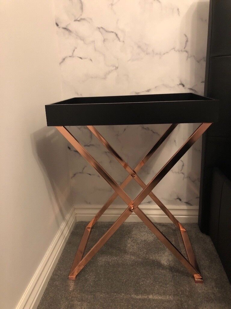 Rose Gold Butler Tray Table