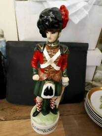 Vintage Black Watch Scottish Musical Decanter