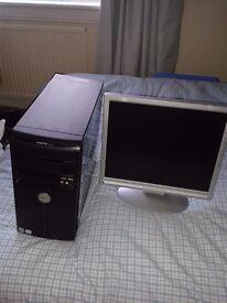 "Dell Vostro 200 PC with 17"" LCD moniter"