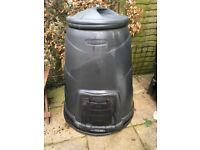 "Blackwall Black Compost Bin Height 39"" x 29""with lid."