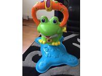 Musical bouncing frog