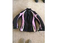Ladies XS purple and black Motorbike jacket