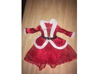 Girls Mrs Claus dress