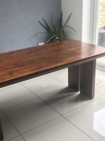 Dining Table - Solid Dark Wood